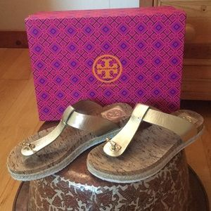 Tory Burch Cork Flat Thong Sandals